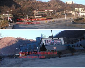 8米双臂市电亚博全站官方下载-甘肃省商洛市厂区内部景观灯